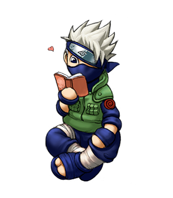 Kakashi Chibi on Kakashi   Afterimages Of Ghostfire   The Art Of Julia Lichty