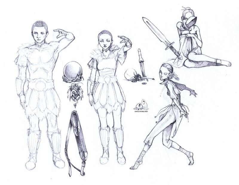 Random Skyrim Type Sketches | afterimages of ghostfire